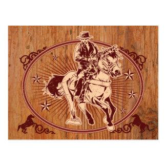 Rodeo del oeste salvaje del país del vaquero postales