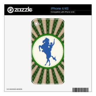 Rodeo del vaquero azulverde calcomanía para iPhone 4S