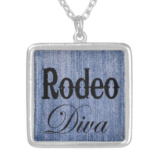 Rodeo Diva, cowgirl pendant