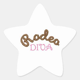 RODEO DIVA STAR STICKER
