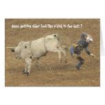 Rodeo divertido sobre el cumpleaños de la colina, tarjeta de felicitación