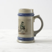 Rodeo - double exposure  - cowboy - rodeo cowboy beer stein