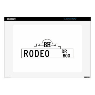 Rodeo Drive, Los Angeles, CA Street Sign Skin For Laptop