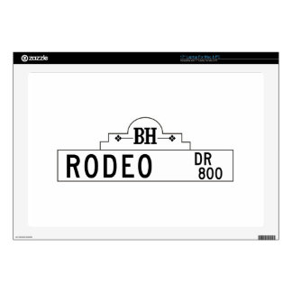 """Rodeo Drive, Los Angeles, CA Street Sign Skins For 17"""" Laptops"""