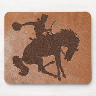 Rodeo Embossed Leather Mouse Pad