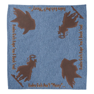 Rodeo Gals and Horses (Double Entendré) Bandana