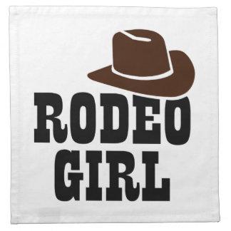 Rodeo girl napkin