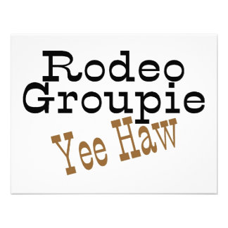 Rodeo Groupie Yee Haw Personalized Announcement