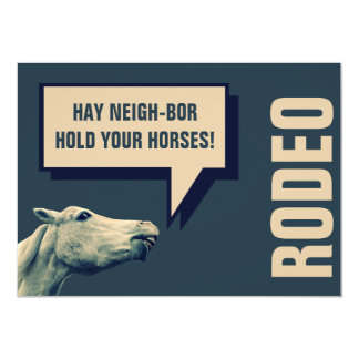 Rodeo Horse Event Announcement or Invitation