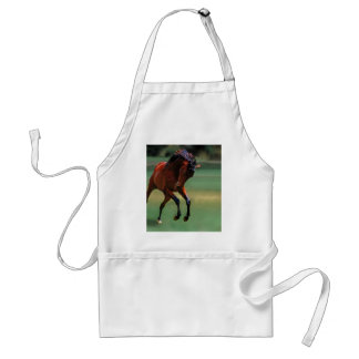 Rodeo horse for the cowboy adult apron