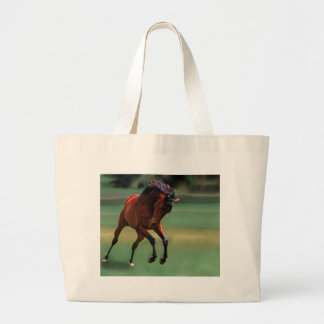 Rodeo horse for the cowboy jumbo tote bag