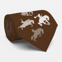 Rodeo Horses | Brown Neck Tie