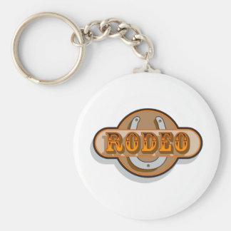Rodeo Horseshoe Keychains