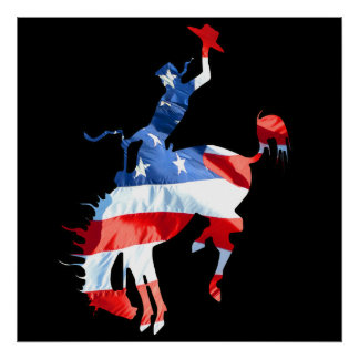 Rodeo is America - Bronco Riding 2 Poster