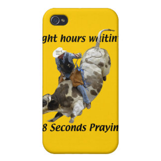 Rodeo - jinete de Bull iPhone 4/4S Carcasa