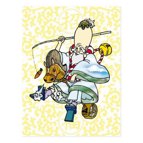 寿 old person, Bell, Horse, 午, Rodeo, tsururi, Fuji, Carrot, Character