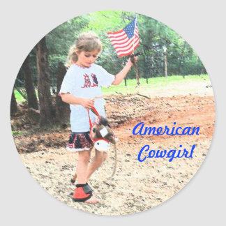 RODEO KIDS #1 AMERICAN COWGIRL STICKER PARTY FAVOR