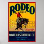 Rodeo LabelSalinas vegetal, CA Poster