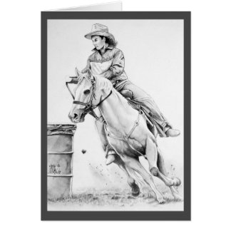 Rodeo Lady Greeting Cards