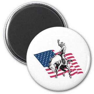 Rodeo los E.E.U.U. - América, caballo del vaquero  Imán De Nevera