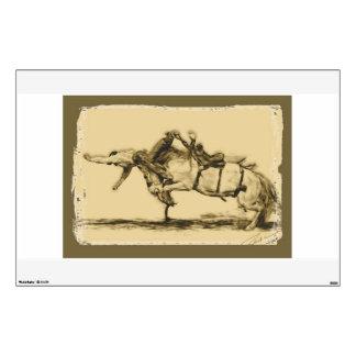 Rodeo - montar a caballo del Bronc de la silla de  Vinilo Adhesivo