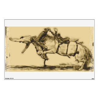 Rodeo - montar a caballo del Bronc de la silla de  Vinilo Decorativo