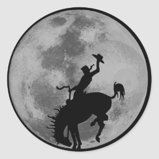 Rodeo Moon Classic Round Sticker