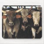 Rodeo Mousepad occidental de la vaca de tres toros Alfombrilla De Ratones