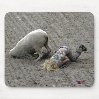 Rodeo - Mutton Busting - Face Plant Mouse Pad