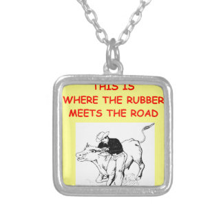 RODEO SQUARE PENDANT NECKLACE