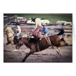 Rodeo occidental #1 tarjeta de felicitación