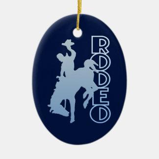 RODEO ornament, customize Ceramic Ornament