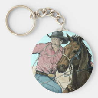 RODEO Partners, Cowboy Steer Wrestling Keychain