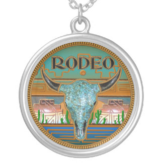 Rodeo Pendant in 3D Round Pendant Necklace