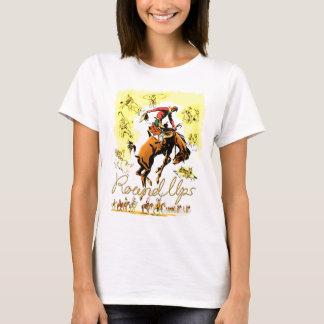Rodeo retro del vaquero del rodeo del vintage playera