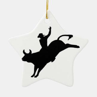 Rodeo Rider Ceramic Ornament