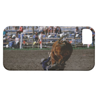 Rodeo rider falling from bull iPhone 5 case