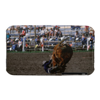 Rodeo rider falling from bull Case-Mate iPhone 3 case