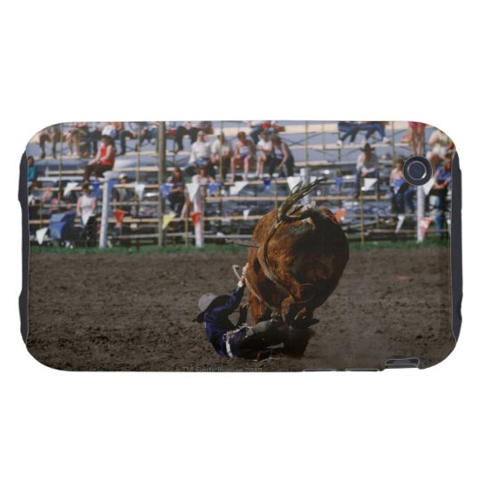 Rodeo rider falling from bull iPhone 3 tough case