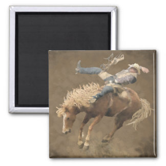 Rodeo Rider 2 Inch Square Magnet