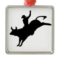 Rodeo Rider Metal Ornament
