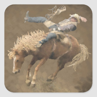 Rodeo Rider Square Stickers