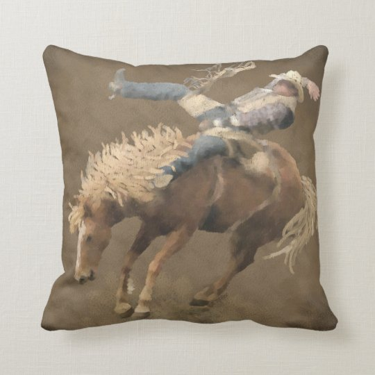 Rodeo Rider Throw Pillow