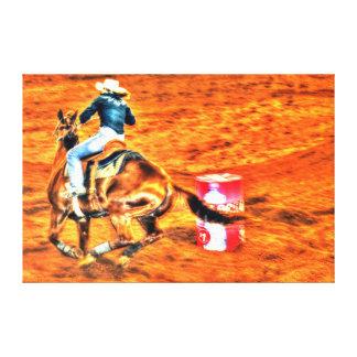 RODEO RIDING BARREL EVENT QUEENSLAND AUSTRALIA CANVAS PRINT