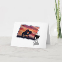 Rodeo Roping Cowboy and Horse Happy Father's Day Card