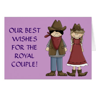 Rodeo Royalty Bride and Groom Greeting Card