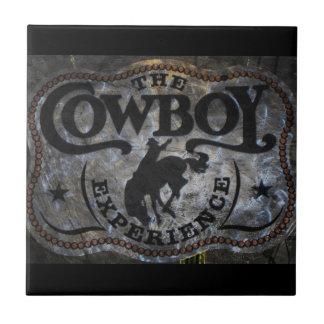 rodeo rústico del vaquero del país occidental del  azulejo cuadrado pequeño