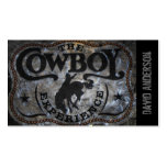 rodeo rústico del vaquero del país occidental del  tarjeta de visita