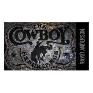 rodeo rústico del vaquero del país occidental del  tarjetas de visita