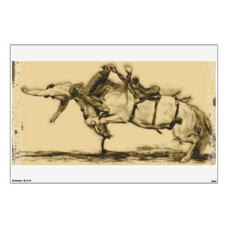 Rodeo - Saddle Bronc Riding - Over the Top Wall Graphic